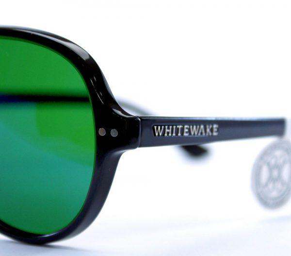 gafa de sol whitewake bandog black green pin