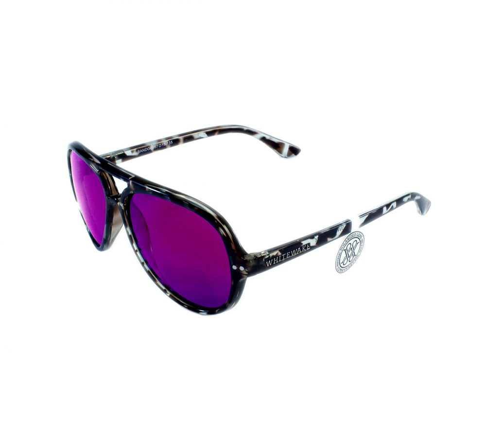 Gafa de sol Whitewake modelo Bandog moteada Black Purple