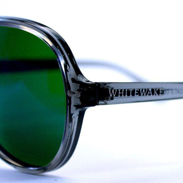 gafa de sol whitewake bandog transgray green pin