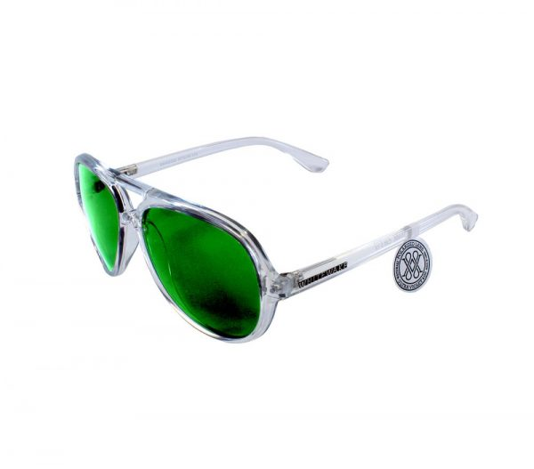 gafa de sol whitewake bandog transp green lateral