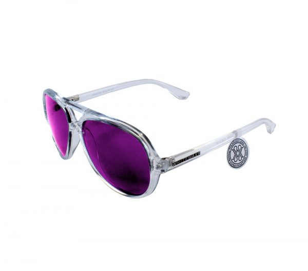gafa de sol whitewake bandog transp purple lateral