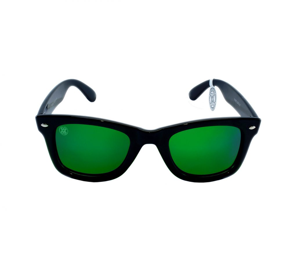 gafa de sol whitewake revolt black green polarized front
