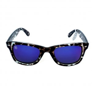 gafa de sol whitewake revolt mottle black blue polarized front