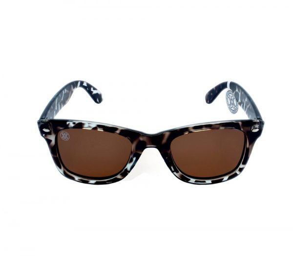 gafa de sol whitewake revolt mottle black brown polarized front