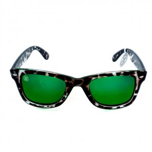 gafa de sol whitewake revolt mottle black green polarized front