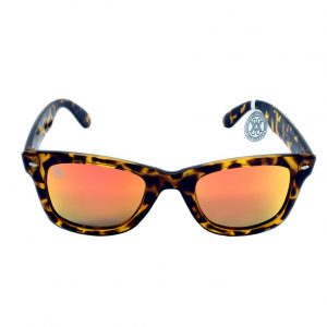 gafa de sol whitewake revolt mottle brown orange polarized front