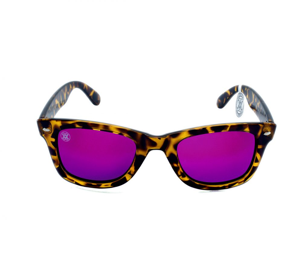 gafa de sol whitewake revolt mottle brown purple polarized front