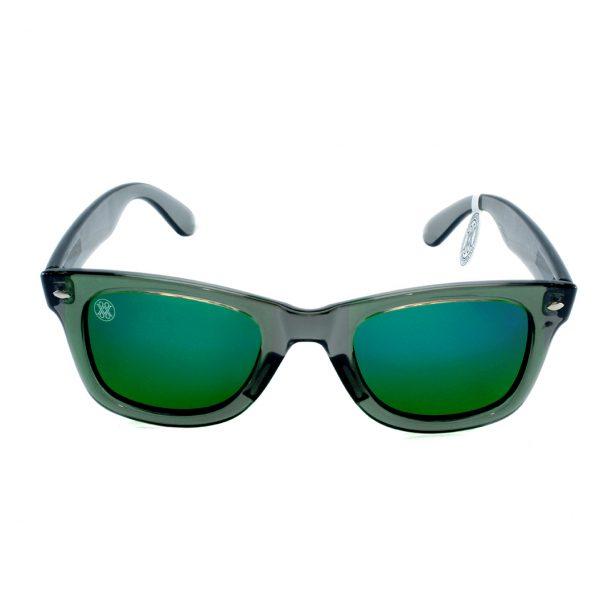 gafa de sol whitewake revolt transp gray green polarized front
