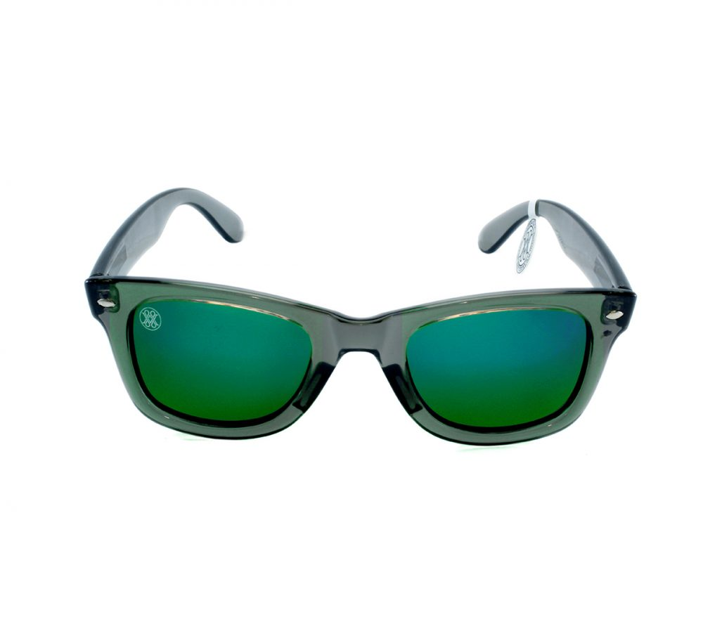 gafa de sol whitewake revolt transp gray green polarized front