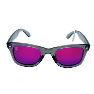 gafa de sol whitewake revolt transp gray purple polarized front