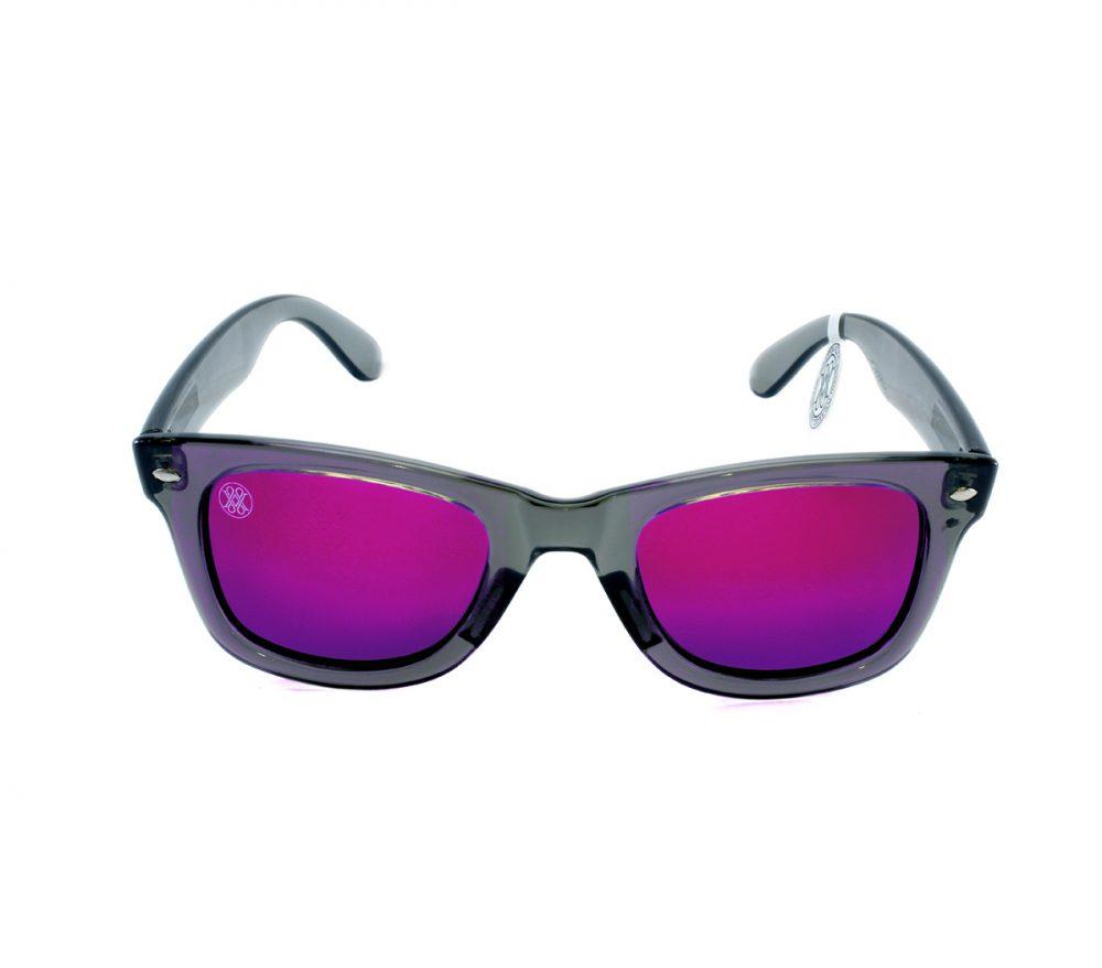 gafa de sol whitewake revolt transp gray purple polarized front