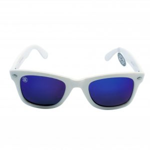 gafa de sol whitewake revolt white blue polarized front