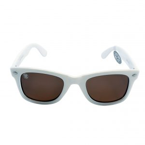 gafa de sol whitewake revolt white brown polarized front