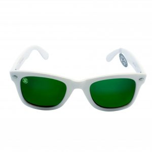 gafa de sol whitewake revolt white green polarized front