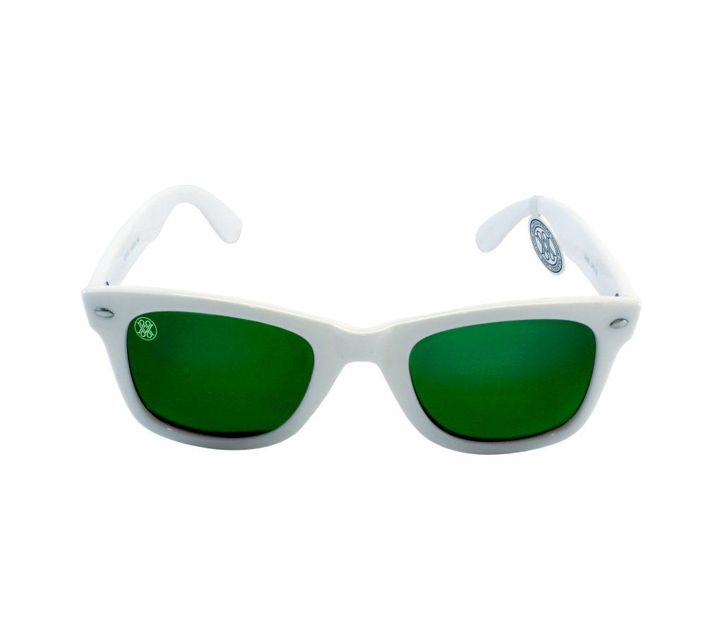 gafa de sol whitewake revolt white green polarized front