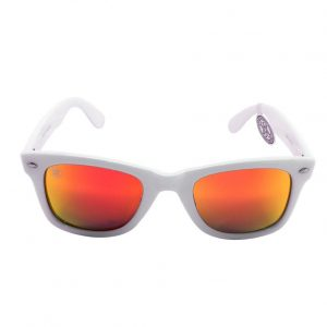 gafa de sol whitewake revolt white orange polarized front