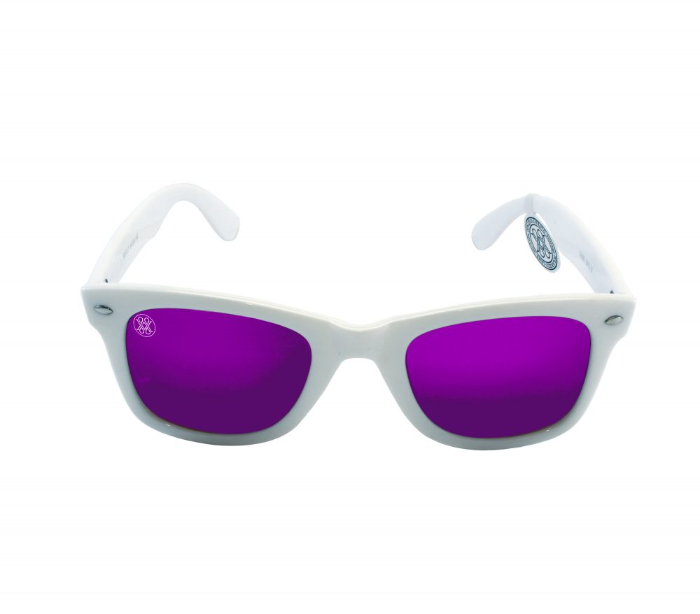 gafa de sol whitewake revolt white purple polarized front