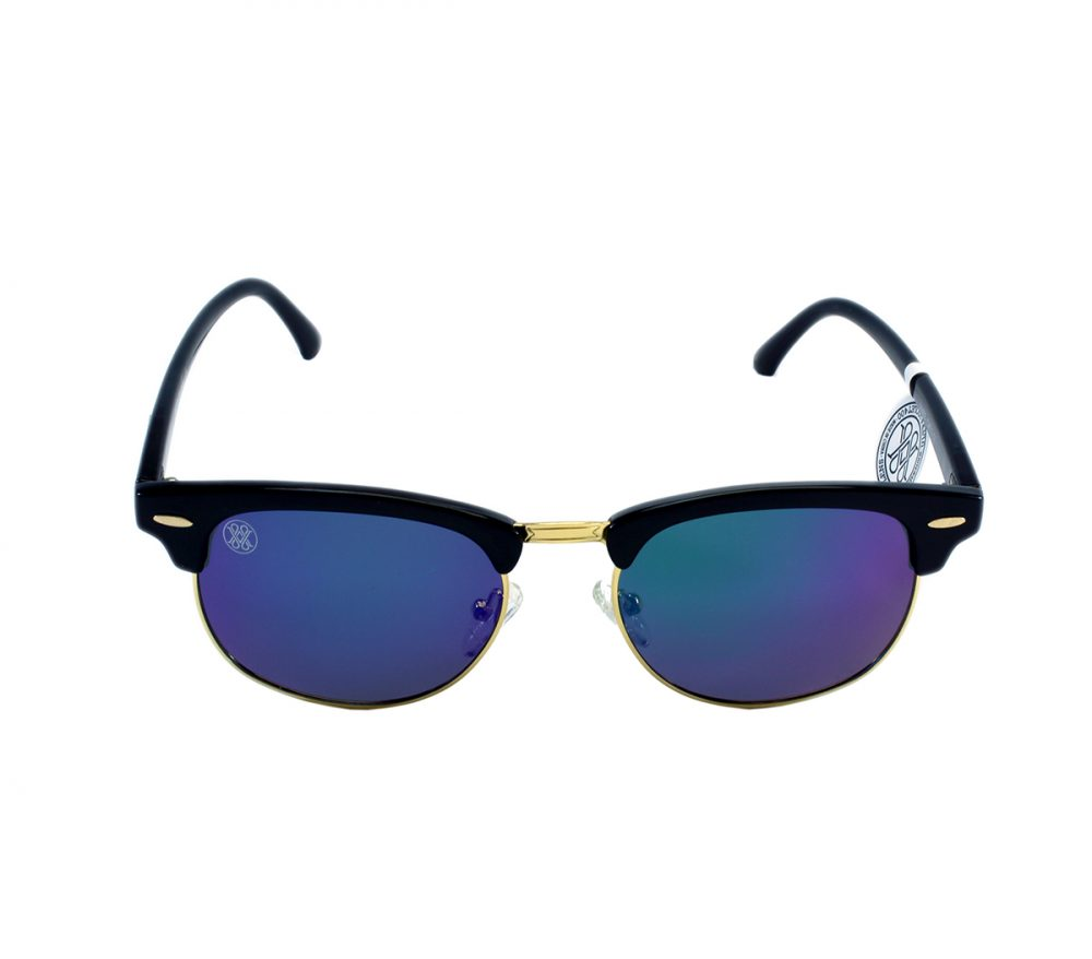 gafa de sol whitewake sixty black blue polarized frente