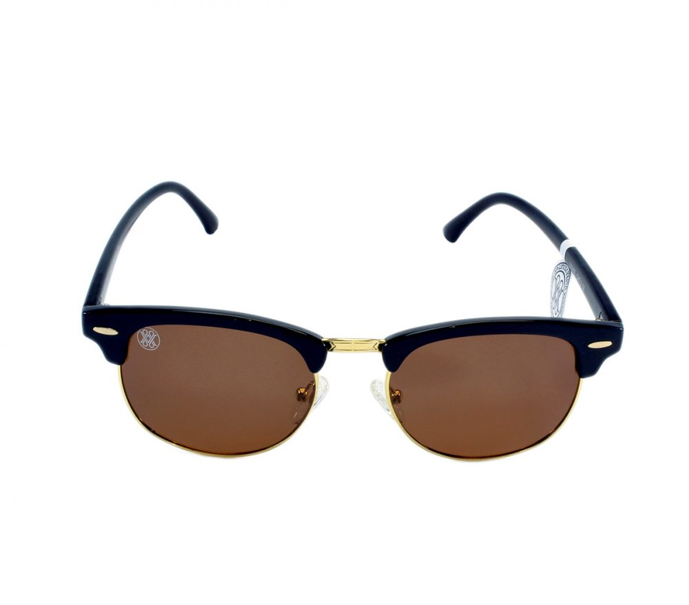 gafa de sol whitewake sixty black brown polarized frente