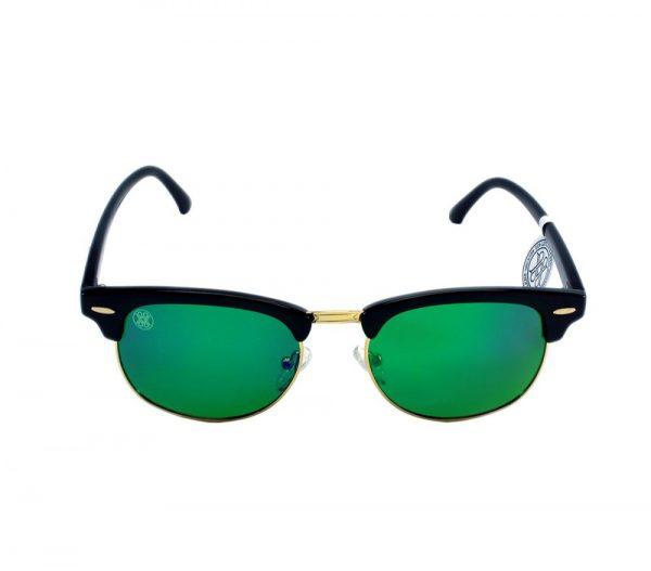 gafa de sol whitewake sixty black green polarized frente
