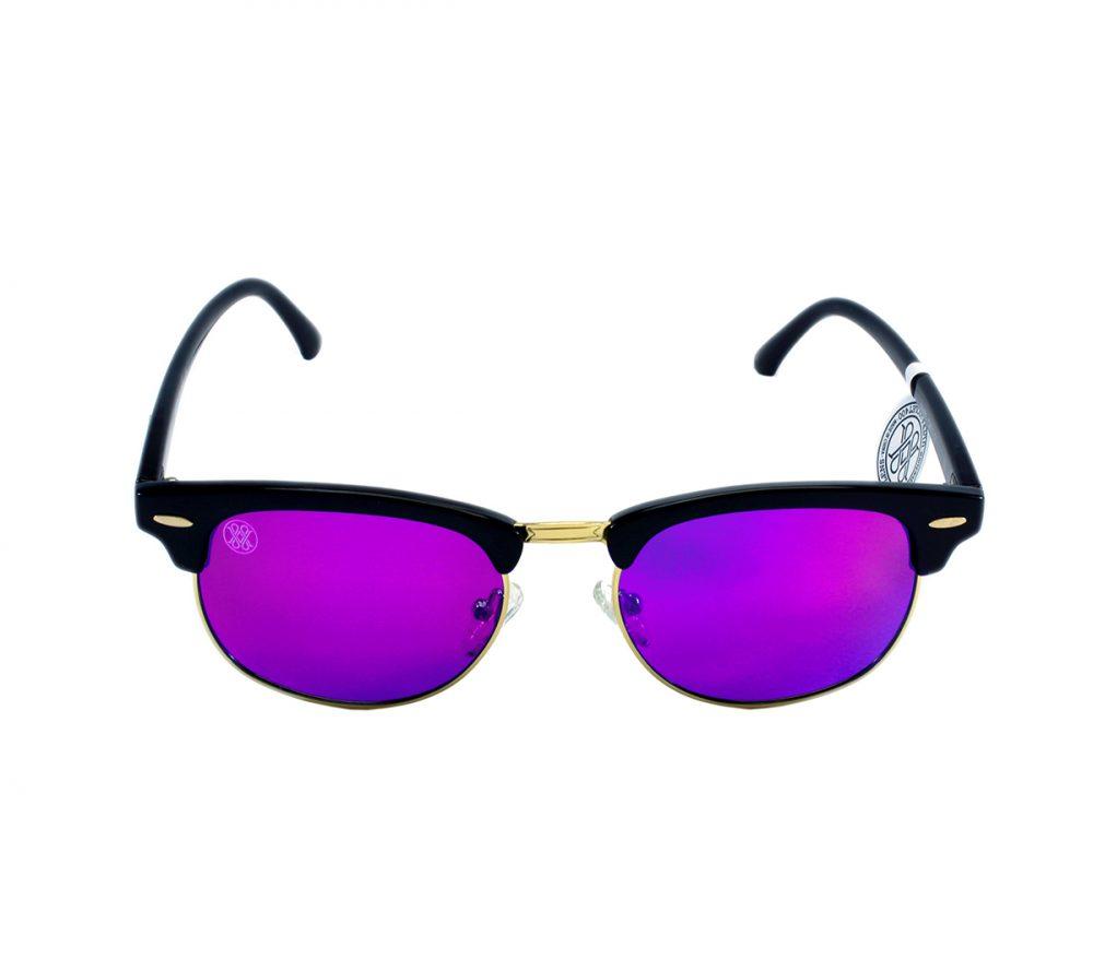 gafa de sol whitewake sixty black purple polarized frente