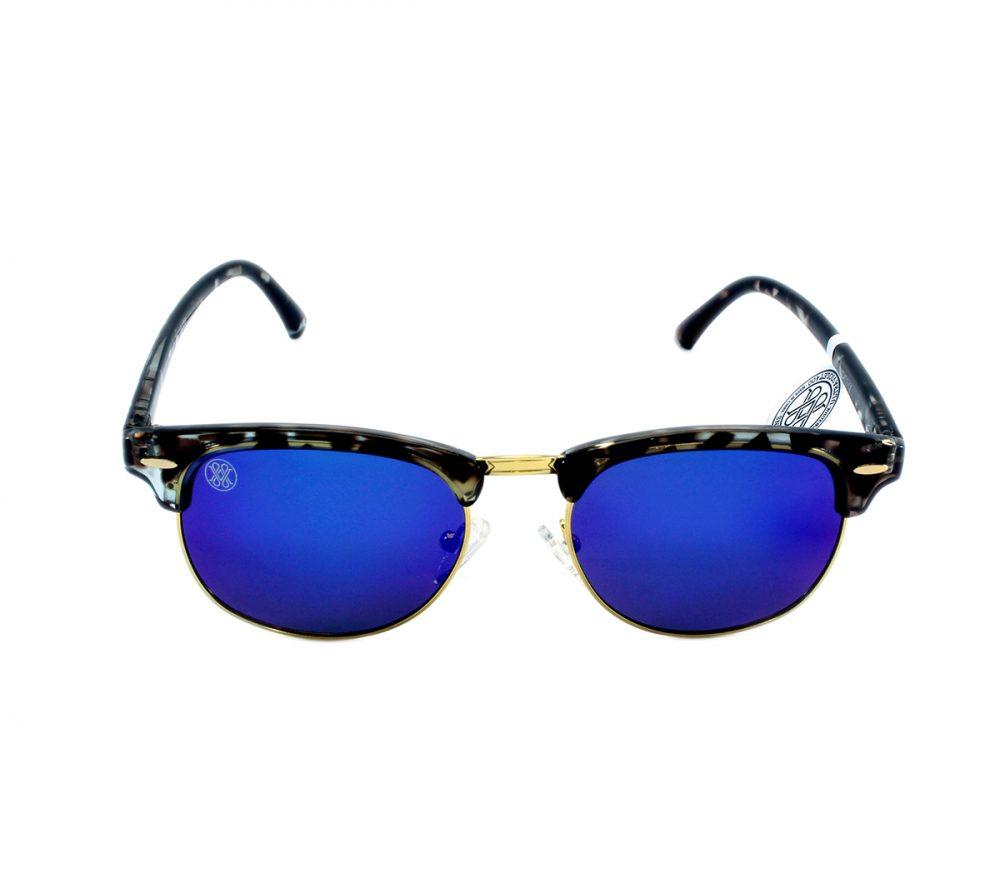 gafa de sol whitewake sixty mottle black blue polarized frente