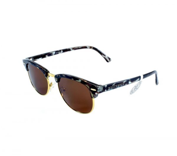 gafa de sol whitewake sixty mottle black brown polarized