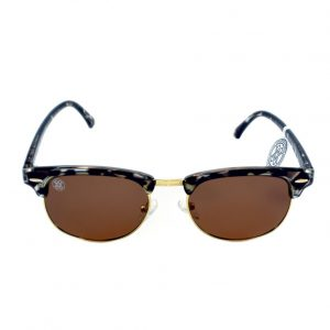 gafa de sol whitewake sixty mottle black brown polarized frente