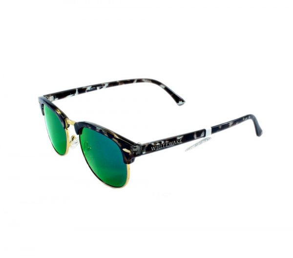 gafa de sol whitewake sixty mottle black green polarized