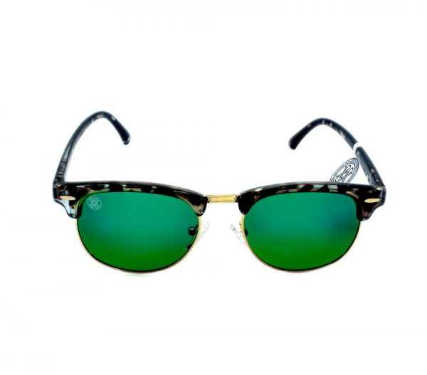 gafa de sol whitewake sixty mottle black green polarized frente