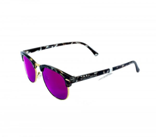 gafa de sol whitewake sixty mottle black purple polarized