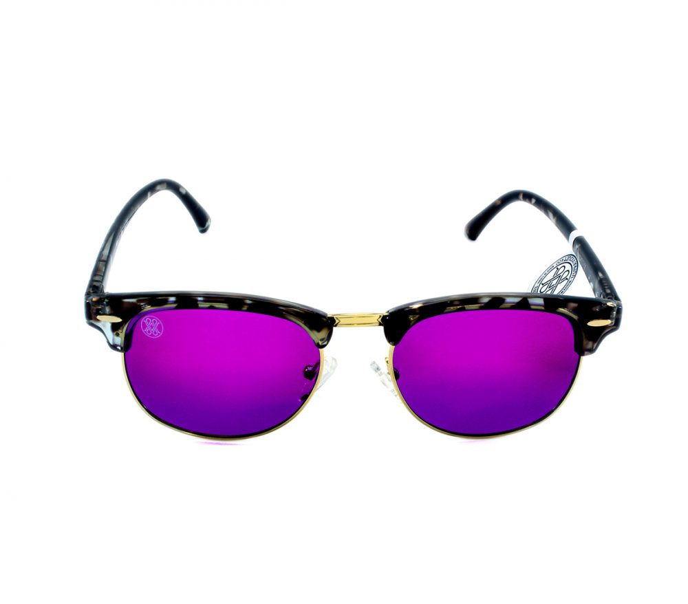 gafa de sol whitewake sixty mottle black purple polarized frente