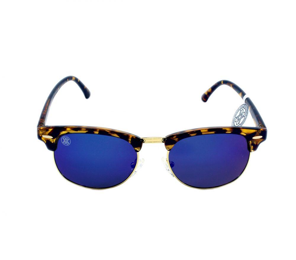 gafa de sol whitewake sixty mottle brown blue polarized frente