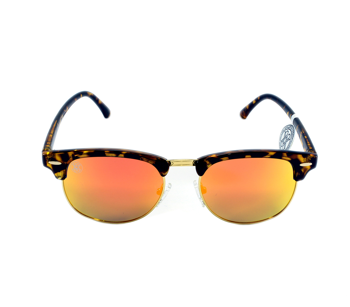 gafa de sol whitewake sixty mottle brown orange polarized frente