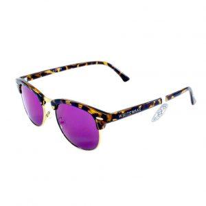 Gafa de sol Whitewake montura Mottle Brown lente Purple polarizada
