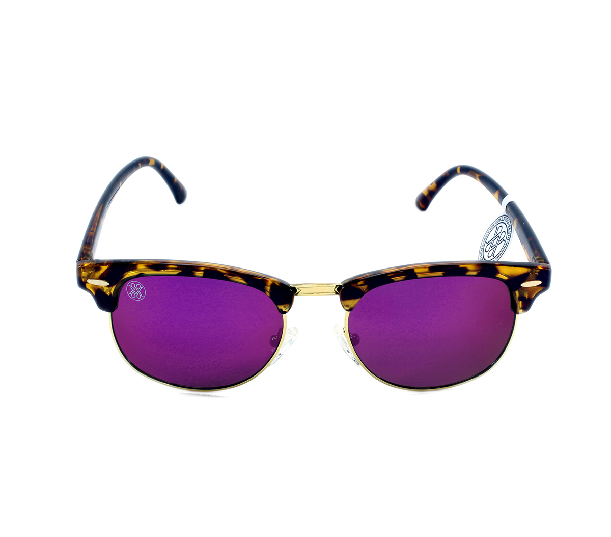 gafa de sol whitewake sixty mottle brown purple polarized frente