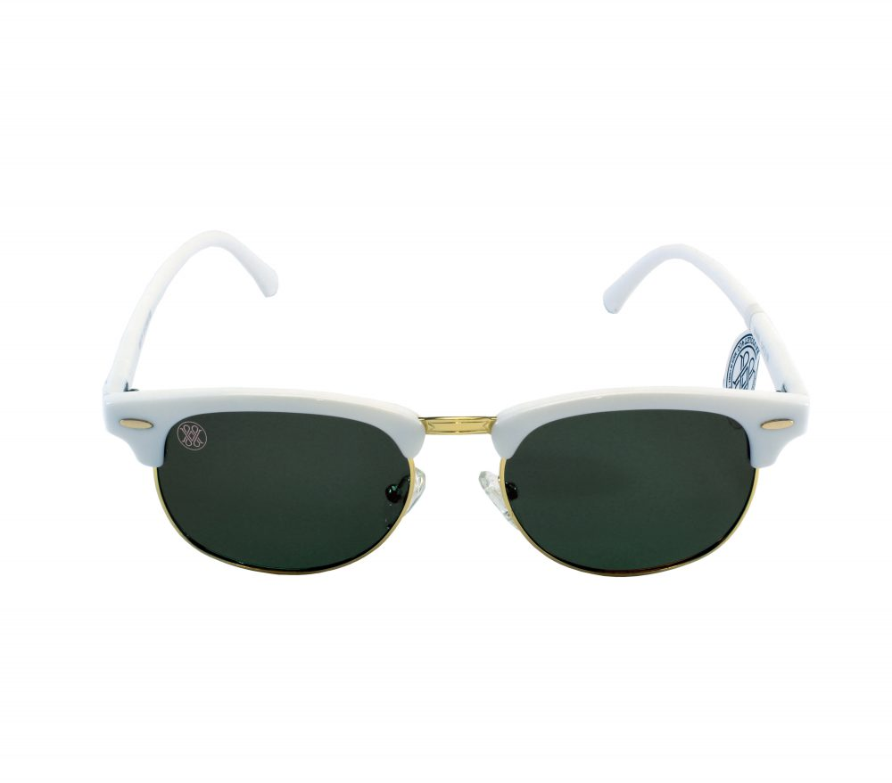 gafa de sol whitewake sixty white black polarized frente