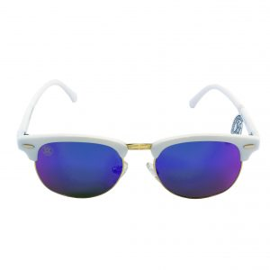 gafa de sol whitewake sixty white blue polarized frente
