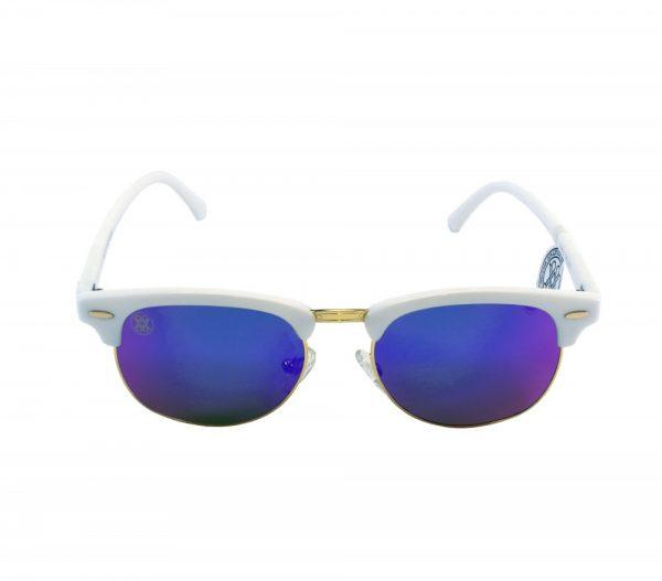 gafa de sol whitewake sixty white blue polarized frente