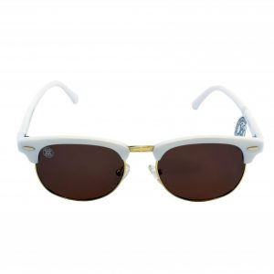 gafa de sol whitewake sixty white brown polarized frente