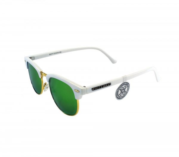 gafa de sol whitewake sixty white green polarized