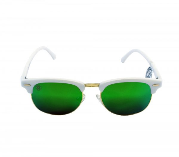 gafa de sol whitewake sixty white green polarized frente