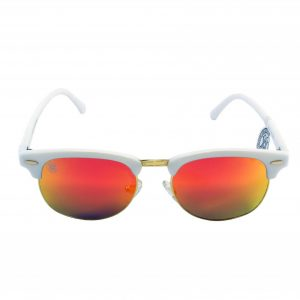 gafa de sol whitewake sixty white orange polarized frente