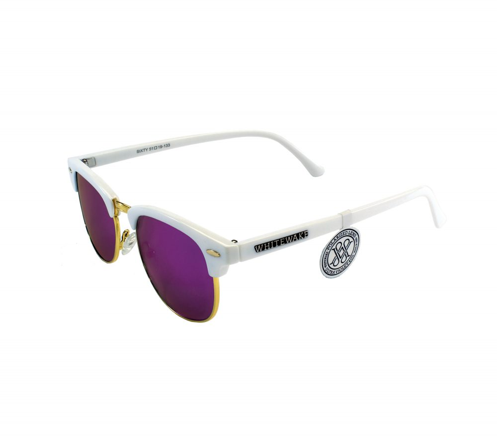 Gafa de sol Whitewake montura White - lente Purple polarizada