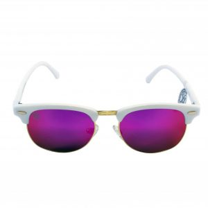 gafa de sol whitewake sixty white purple polarized frente
