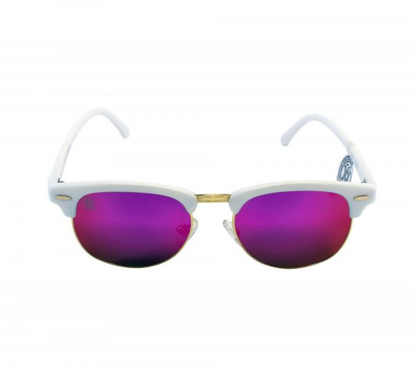gafa de sol whitewake sixty white purple polarized frente